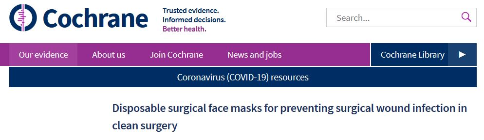 cochrane review masks